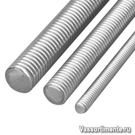 Шпилька нержавеющая М18 сталь А4 L= 2 м DIN 976