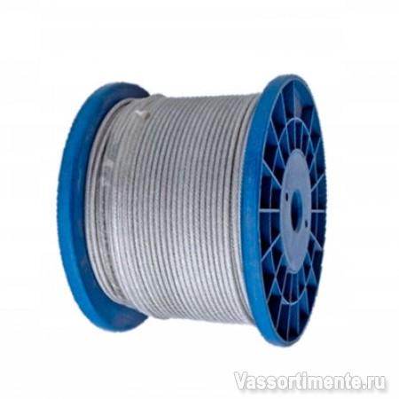 Канат стальной 9,1 мм ГОСТ 2688-80 6х19(1+6+6/6) ос