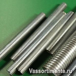 Шпилька нержавеющая М22 сталь А2 L= 1 м DIN 975