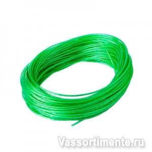 Трос в ПВХ 6/4,2 мм металлополимерный ПР-6.0 зеленый