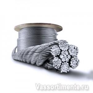 Канат стальной 5,1 мм ГОСТ 2688-80 6х19(1+6+6/6) ос