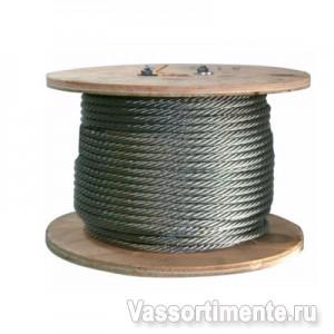 Канат стальной 9,6 мм ГОСТ 2688-80 6х19(1+6+6/6) ос