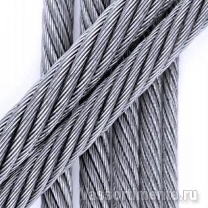 Канат стальной 12 мм ГОСТ 2688-80 6х19(1+6+6/6) ос