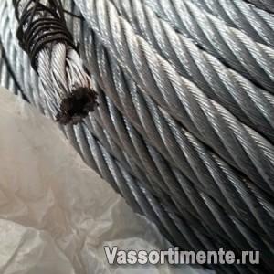 Канат стальной 19,5 мм ГОСТ 2688-80 6х19(1+6+6/6) ос