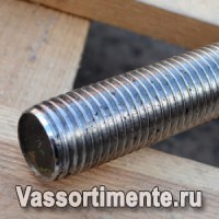 Шпилька нержавеющая М24 сталь А2 L= 1 м DIN 975