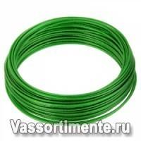 Трос в ПВХ 1,5/0,78 мм металлополимерный ПР-1.5 зеленый